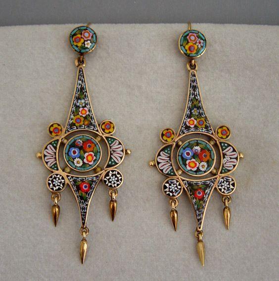 Multicolor long earrings   ♦F&I♦