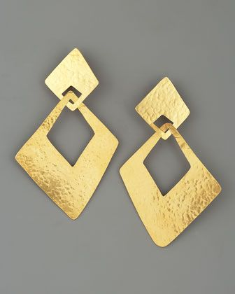 Angular Clip Earrings by Herve Van Der Straeten at Bergdorf Goodman.