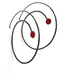 [ Red Dot Hoop Earring ] 2012