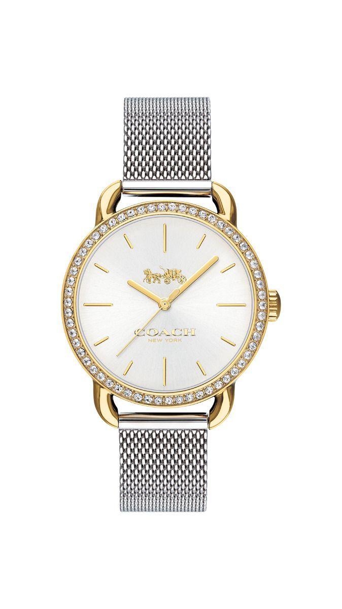 COACH Women's Lex Two-Tone Stainless Steel Mesh Bracelet Watch 32mm 14502898