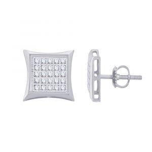 Diamond Petite 1/8ctw. Micro-Pave Diamond Stud Earrings in 10k White Gold