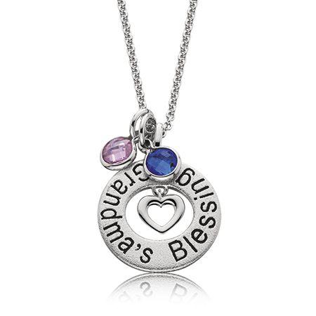 Grandma's Blessing Pendant in Sterling Silver