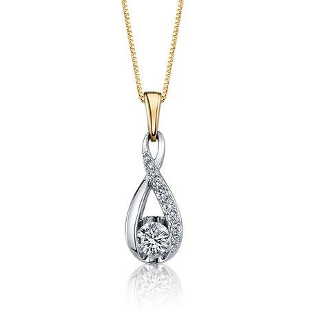 Sirena ½ct. t.w. Diamond Twist Pendant in 14k White Gold