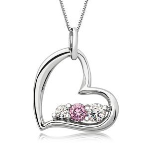 Survivor Collection Heart of Strength Topaz Pendant