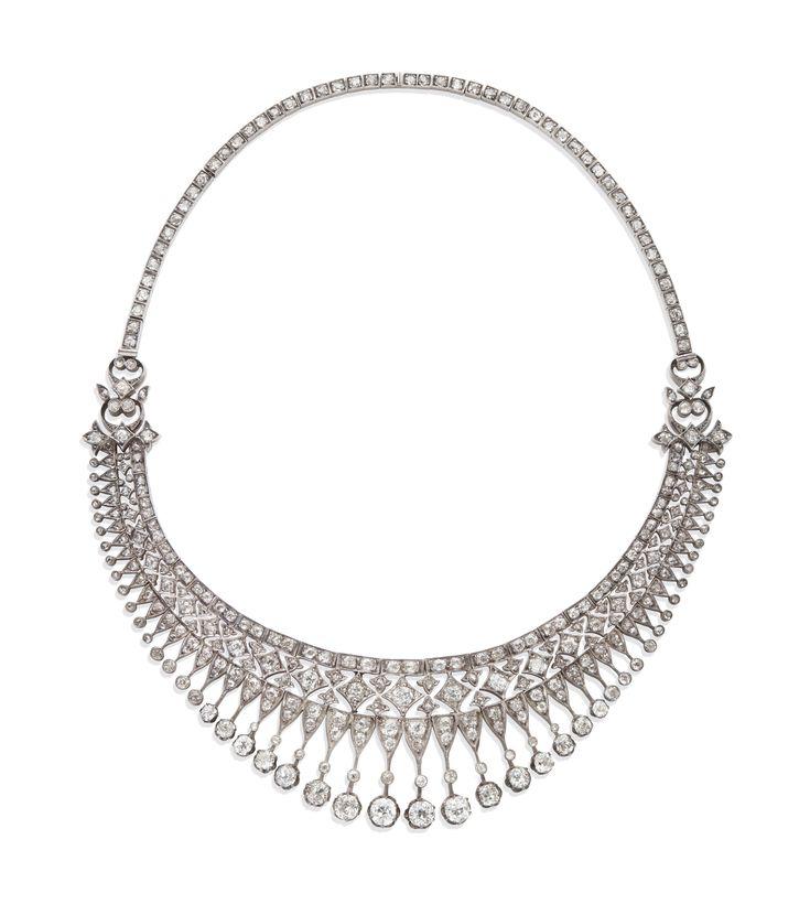 COLLIER FIN XIXÈME DIAMANTS | Jewelry, necklace | Christie's