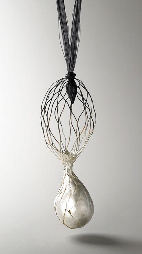 Eunju Park, Eunju Park Necklace: Germinate 3, 2007 925 silver, silk thread 280 x...