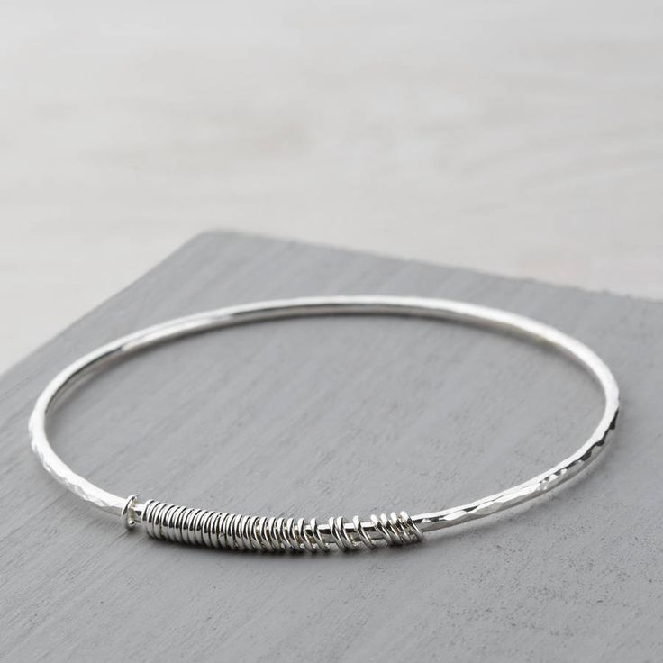 I've just found 30th Birthday Bangle. Stunning handcrafted sterling silver b...