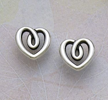 Heart String Ear Posts #jamesavery #jewelry