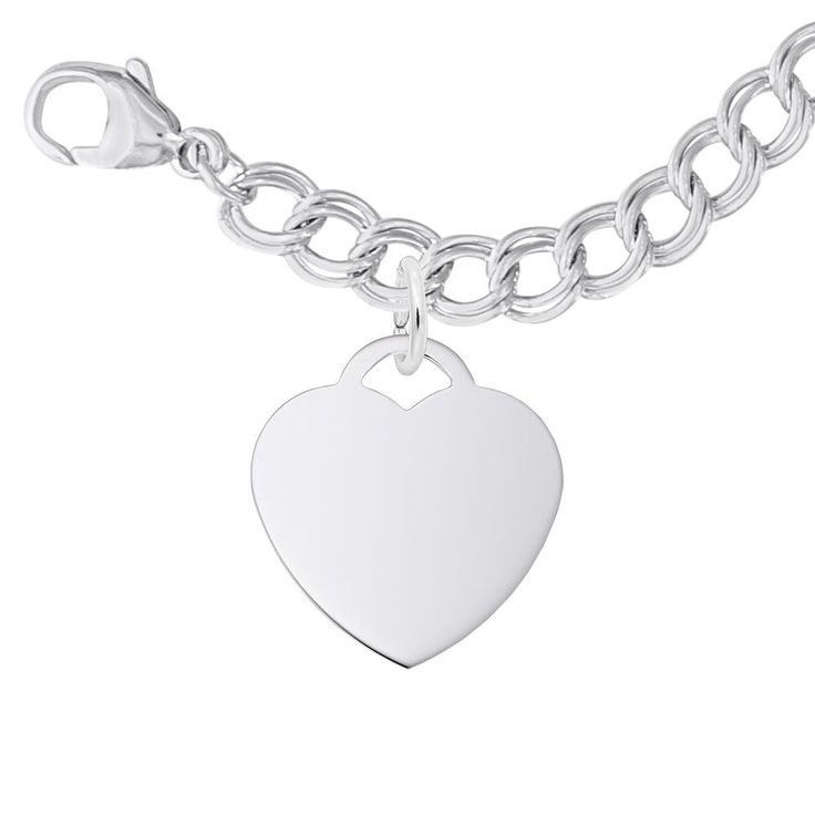 Heart Charm Bracelet Set in Sterling Silver