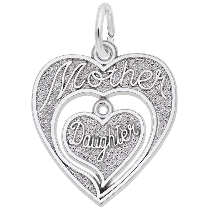 Mother Daughter Sterling Silver Charm