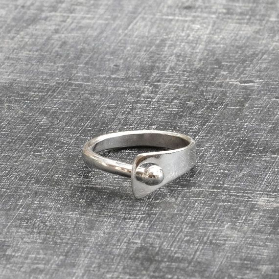 Sterling Silver ring Design ring Modern Silver eco by Menno