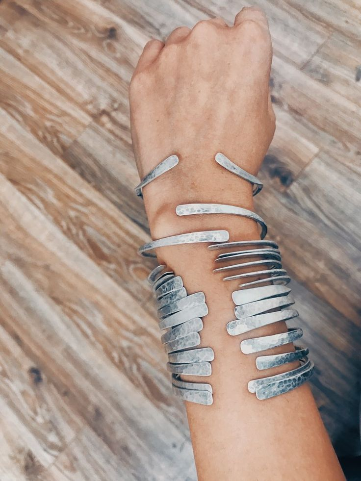Sterling Silver Cuff Bracelet – Elle Naz Jewelry