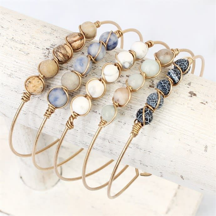 Wire Natural Stone Bracelet | Jane