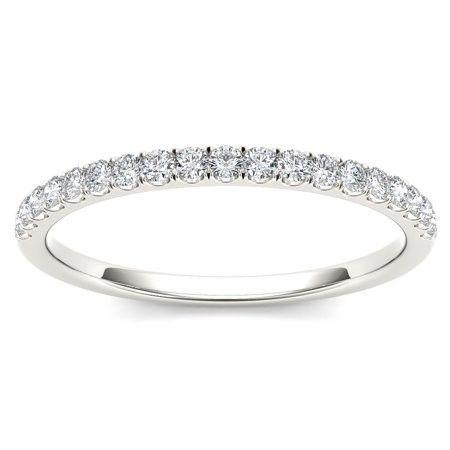 Diamond and white gold pave eternity style wedding band  #affiliatelink #wedding...