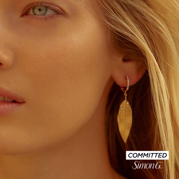 18K Gold Leaf Earrings