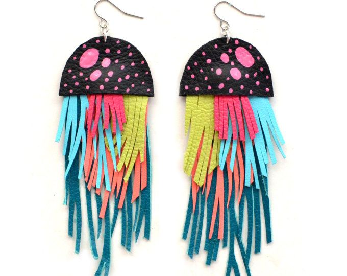 Multicolor Leather Earrings  | ♦F&I♦