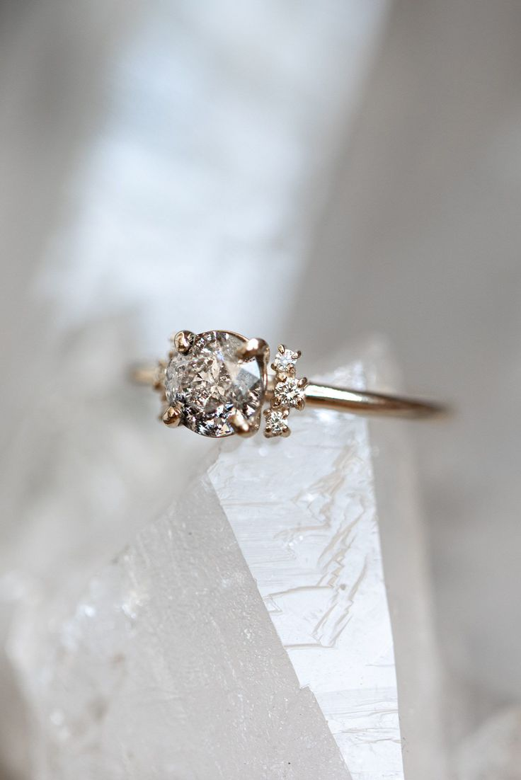HLSK Engagement Ring | See more on The Lane... | Photo: Chloe May