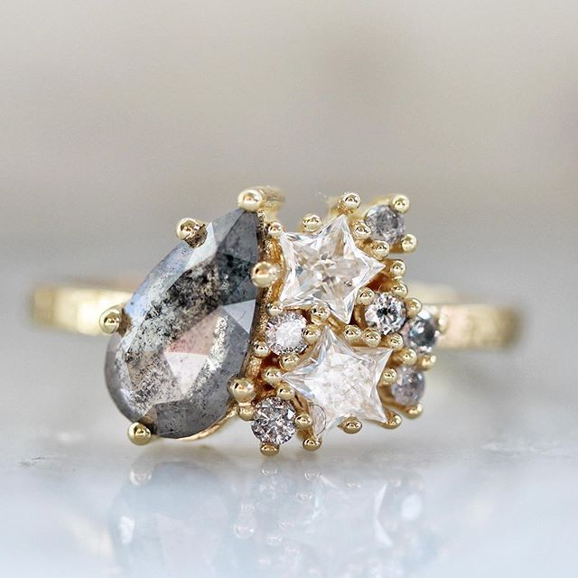 Starry Night Custom Engagement Ring