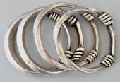 Bracelets Trends  : Group of Miao or Dong bangles silver lt 19th early 20th c (p...
