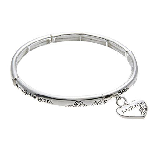 Mother Blessing Stretch Bracelet H7 Heart Silver Tone Mom... www.amazon.com/...