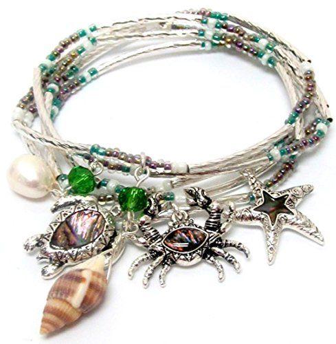 Recyclebabe Bracelets Abalone Sea Life Charm Bracelet BN ... www.amazon.com/...
