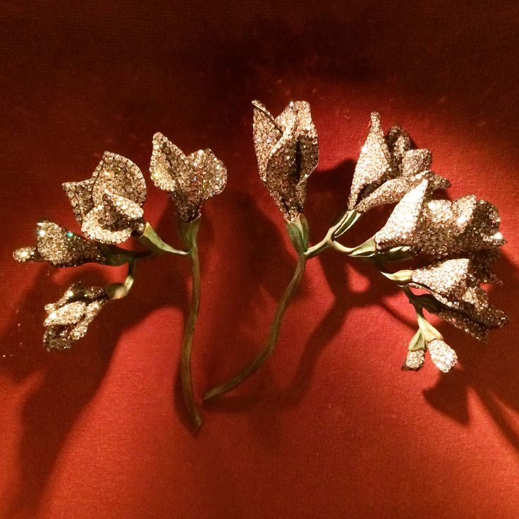 Freesia Brooches by JAR, 2010. Diamond, bronze, silver, and gold. Photo by Chery...