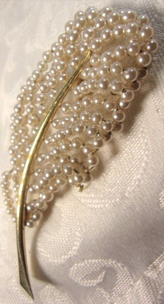 Vintage Art Deco GoldPlated Seed Pearl Flower Pin Brooch Lovely 1940s Era | Jewe...