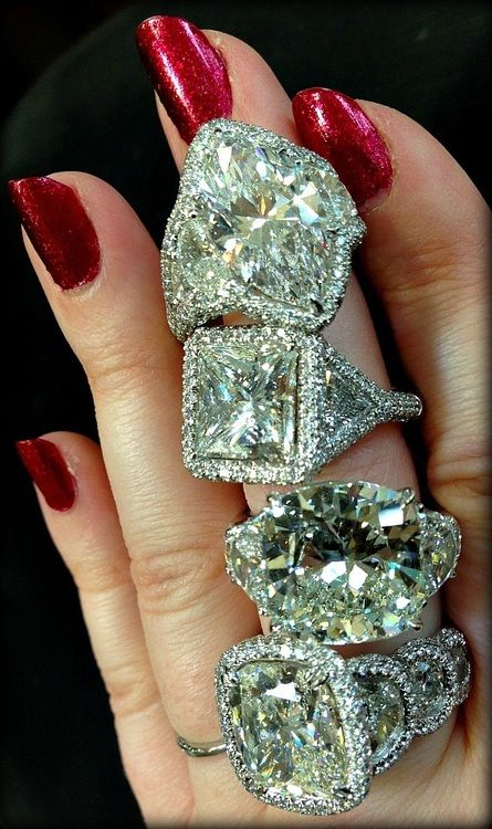 Serious sparkle: JB Star rings.   Diamonds in the Library