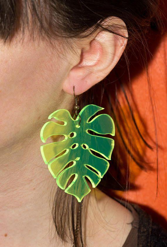 Monstera Earrings |♦F&I♦