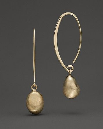 Satin Gold Drop Threader Earrings in 14 Kt. Yellow Gold   Bloomingdale's