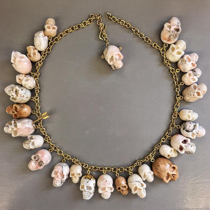 Amazing one of a kind Elena Votsi skull necklace!
