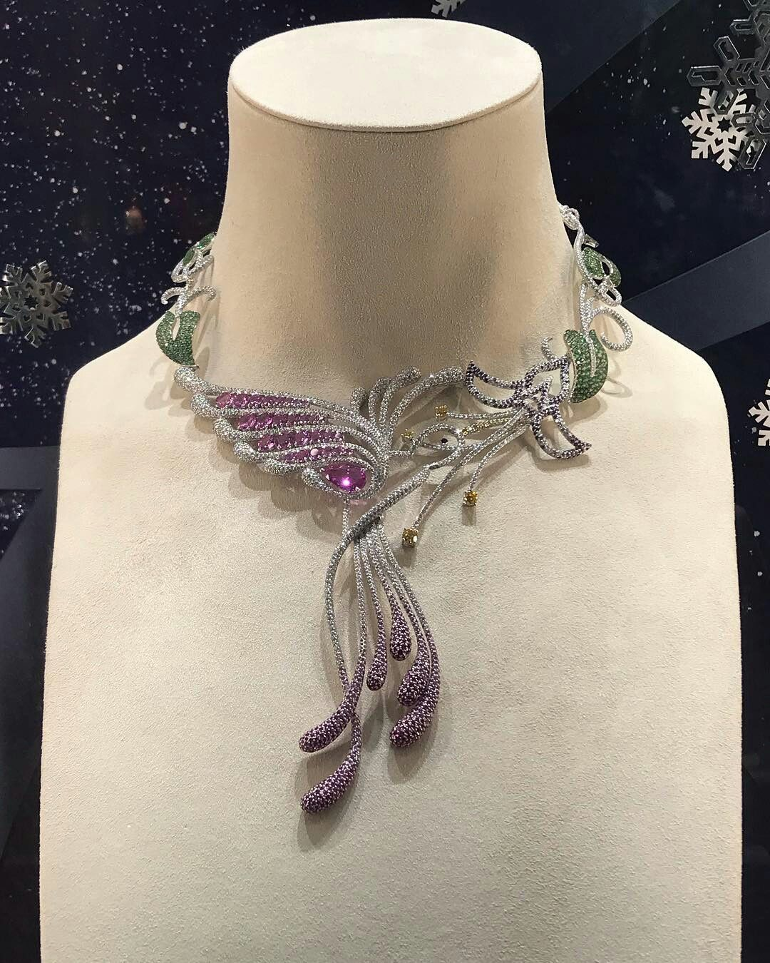 So lucky to see this important high jewelry necklace from Chopard US Animal Worl...