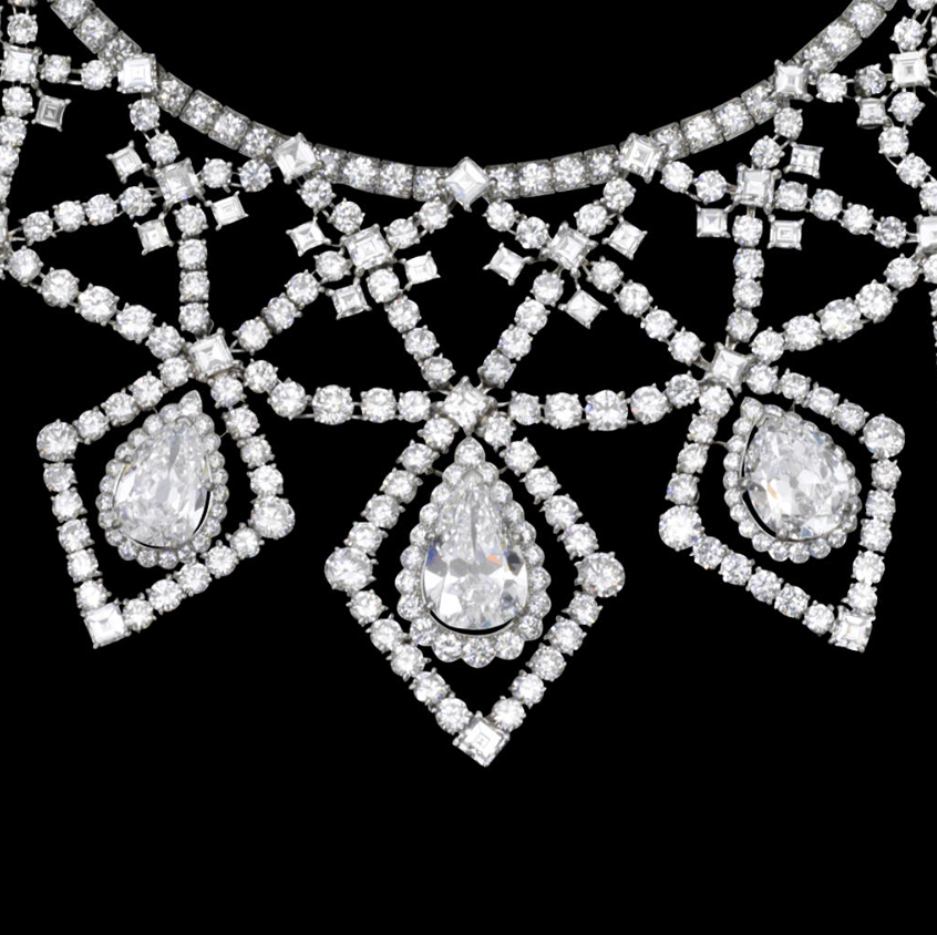 An impressive diamond necklace, by Cartier,