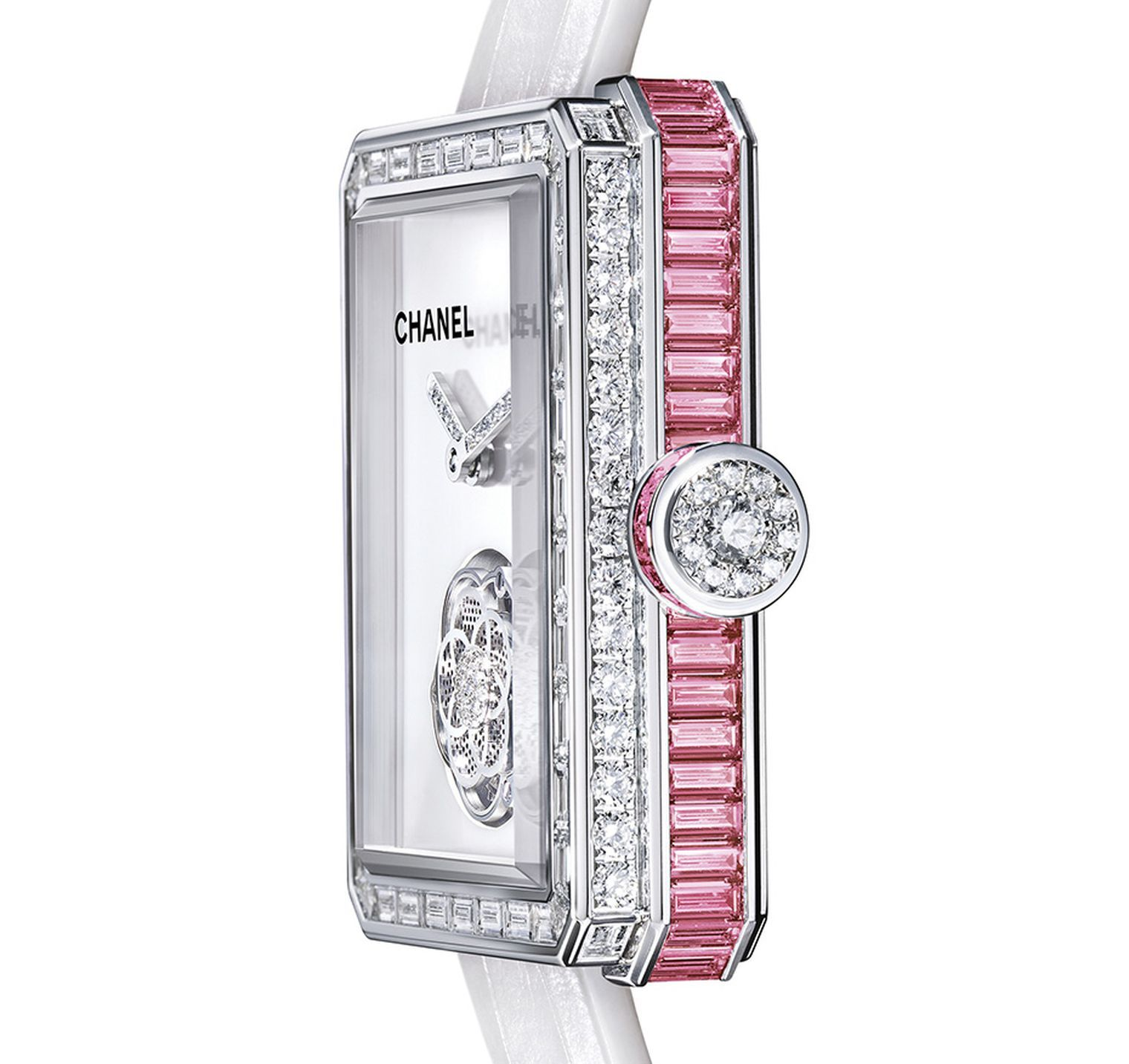 Baselworld 2014 watch review: the new Chanel Premiere Flying Tourbillon watch with pink sapphires