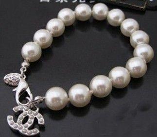 pearl chanel bracelet - bridal jewelry