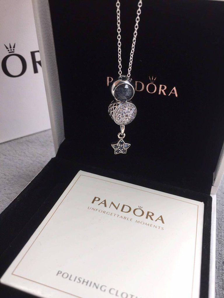 Pandora blue theme charm necklace