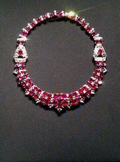CARTIER~ RUBY AND DIAMOND NECKLACE More #pendantdiamondnecklace