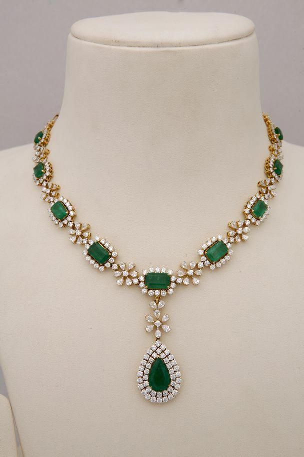Indian Jewellery and Clothing: Diamond necklace collection from Tibarumals gems ...