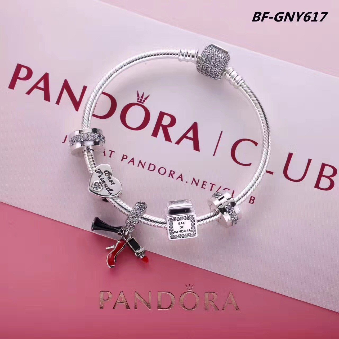 pandora bracelet with fashion charms #pandora #vacation #love #silvercharms #zir...