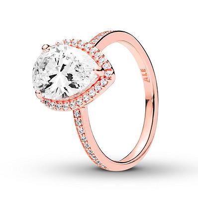 Pandora Rose Ring Radiant Teardrop