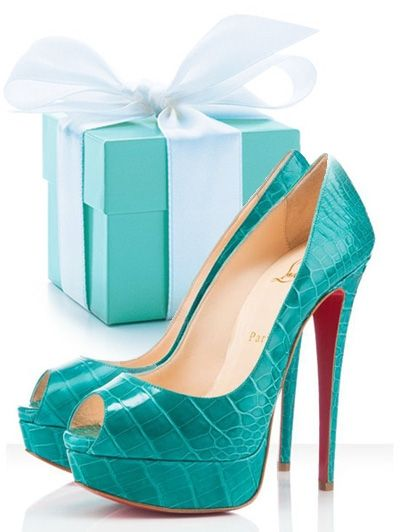 Christian Louboutins and Tiffany blue